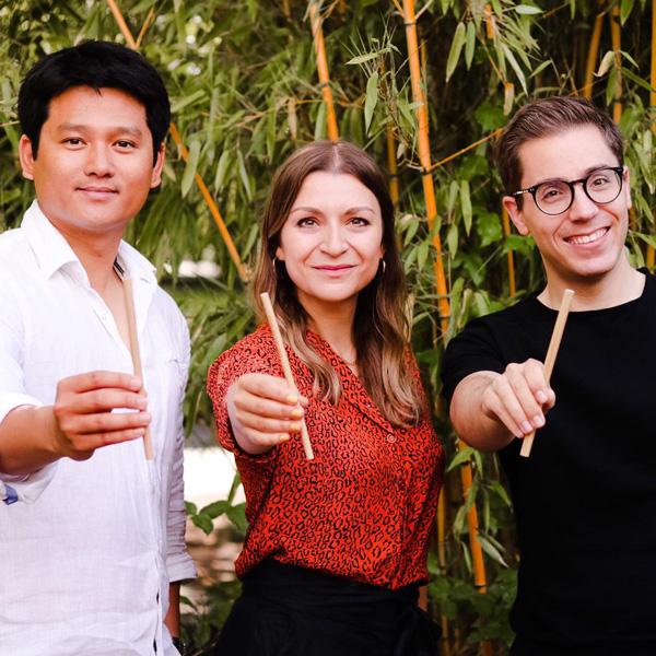 Die Gründer von BAMbuddy: Philippe Nguyen, Verena Walther und Michael Elflein (v.l.)